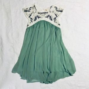 Altar'd State beaded green dress